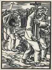 BITTGANG - Rudolf SCHIESTL - Nürnberg - OriginalHolzschnitt 1928 HEYDER Verlag