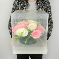Bigger Clear Square Wedding Favor Gift Box Pvc Transparent Birthday Party Casual