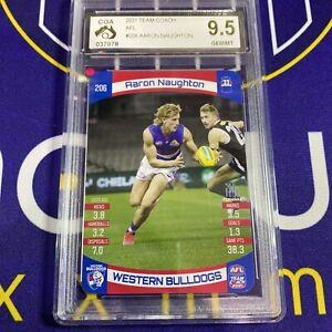 AFL Team Coach 2021 - Aaron Naughton 206 CGA 9.5 PSA - AFL Memorabilia