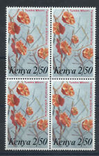 "Kenya N°250** (MNH) 1983 - en bloc de 4 tp - Fleurs ""Terminalia orbicularis"""