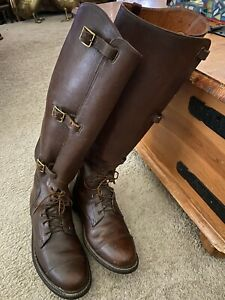 Dehner's Of Omaha Men's Custom Made 7 Eyelet 3 Buckle Leather Tall Riding Boots
