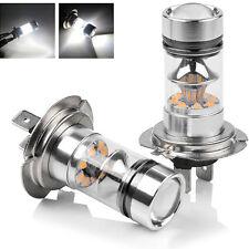 2 Stück NEU 100W H7 LED Nebelscheinwerfer Nebel Licht Birne Auto Glühbirnen Weiß
