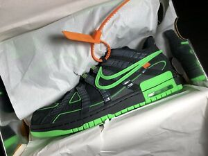 "Nike x Off-White Rubber Dunk ""Black/Green Strike"" Size 10 *IN HAND*"