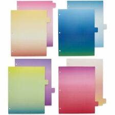 8 Pcs Page Dividers 3 Ring Binder 8 Cut Tabs Ombre Watercolors Letter Size