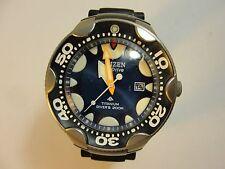 Men's CITIZEN Eco-Drive Titanium Watch Diver's 200M Japan Movement