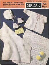 Vintage Patrón De Ganchillo Layette Para Bebé