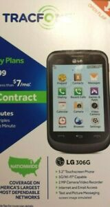 LG 306G TRACFONE SMARTPHONE. SINGLE SIM REMOVED.BLACK/GREY. 256MB. SPEAKERPHONE