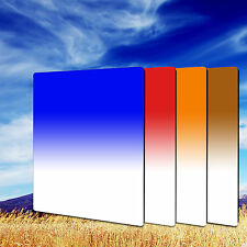 ZOMEI 100*150mm Gradual Tea+Blue+Orange+Red Square Filter Kit for Cokin LEE Hold