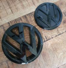 Volkswagen VW Tiguan Gloss Black Front Rear Boot Badge Set [Fits 2012-2015]