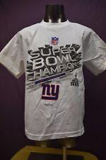 Reebok NFL Youth New York Giants Super Bowl XLVI Champions Shirt New M