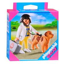 PLAYMOBIL Special - Female Veterinarian Vet with Dog Set 4750 BNIB 4-10 yrs RARE