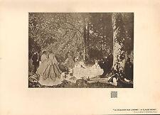 1903 STUDIO PRINT ~ LE DEJEUNER SUR L'HERBE by CLAUDE MONET