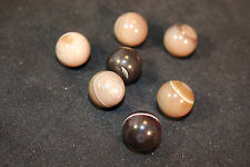 (1) Brown Banded Agate Mineral Marble Sphere 15-16mm (LISTING IS FOR 1 SPHERE!)