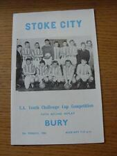 09/03/1966 Stoke City Youth v Bury Youth [FA Youth Cup Replay (Item has no appar