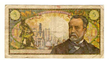 My world collection> FRANCE 1968E  5Franc Banknote  VERY NICE pre-Euro
