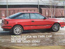 RALLY mudfaps Toyota Celica Gen 6 93-99 GT-FOUR ST205 PARAFANGHI x4 Rosso 4mm PVC