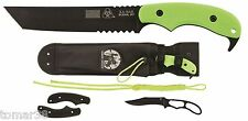 KA-BAR #5700 ZK U.S.A. FAMINE TANTO w/ EXTRA HANDLES, SHEATH & SKELETON KNIFE
