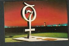 unmailed NASA Kennedy Space Center post card Project Mercury planet symbol