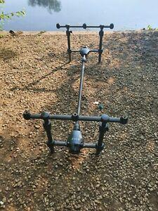 Nash H Gun 3 Rod Pod Carp Fishing Tackle Fox