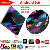 H96 Max Android 9.0 Smart TV Box Quad Core 4K HD WiFi USB Media Streamer Player
