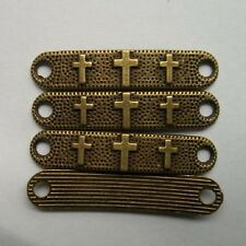 10pcs bronze plated cross charms connector  39x8 mm