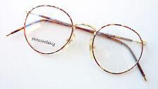 Panto Brille Gestell Metall oldschool occhiali goldbraun Brillenfassung size S