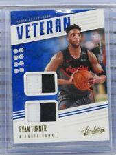 New listing 2019-20 Absolute Evan Turner Veteran Dual Game Used Patch #11/25 Hawks F21