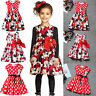 Kids Girls Mickey Minnie Mouse Tutu Princess Dress Baby Infant Swing Skirt 1-7Y