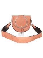 Theory suede strap handbag with hoop