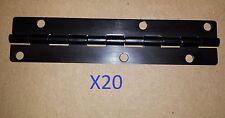 20 pc Aluminum Black Anodized Hinge 5-1/2 x 1-1/4 HOLE Door/Cabinet/18013-186