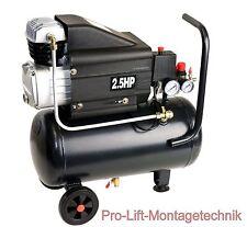 2kW Kompressor 1 Zylinder 24Liter Kessel 8bar Druckluftkompressor schwarz 01858