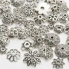 50g/bag Vintage Silver Flower Bead Caps Spacer Beads For DIY Jewellery Making