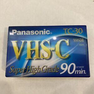 Panasonic TC-30 VHS-C Super High Grade 90 minute Compact Videocassette Sealed