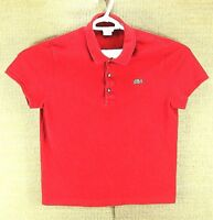 LACOSTE, Genuine Men's Short Sleeve Red Polo Shirt, Size: 6
