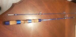 Vintage Garcia Conolon Blue 2pc 5' Fishing Rod 2601-A Ultra Light Spinning Rod !
