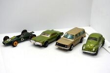 Vintage Lot 4 Tin Toy Cars Majorette Volvo 245 PLAYART Cadillac Volkswagen Lotus