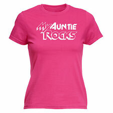 5265223bf1 My Auntie Rocks WOMENS T-SHIRT Aunt Mother Family Tee Birth Baby Gift  birthday
