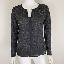 Sanctuary Women's Size L Sweater Black Silver EUC