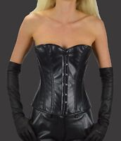 0937 Halfbust Leather corset Steel Boned,leather corsets,Bustier,leather Basque