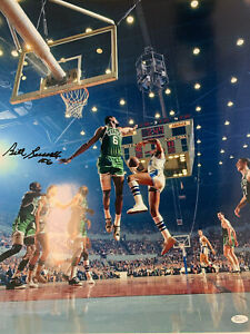 Bill Russell Signed 16x20 Autographed Celtics Basketball Photo VS Lakers Jsa coa