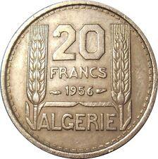 French Algeria Algérie française 20 Francs 1956 KM#91 Turin (2568) key date