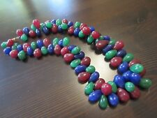 RARE Chinese?Earth Mined Ruby&Emerald&Sapphire 14K Gold Chunky CHOKER Necklace