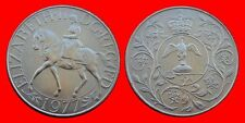 Great Britain 25 New Pence 1977 Km920 Silver Jubilee Of Reign Unc In Bank Wallet