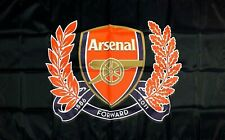 Arsenal Flag 3x5 ft Black Banner England Soccer Football Black Red Gunners