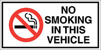 No Smoking in this Vehicle Taxi Bus Van Driving Instructor Car Vinyl Sticker
