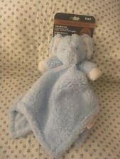 Blankets And & Beyond Baby Security Lovey Nunu Blue Elephant Plush
