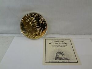 1990 The Washington Mint Giant Half Pound Eagle 8 Troy Oz .999 Fine Silver Round