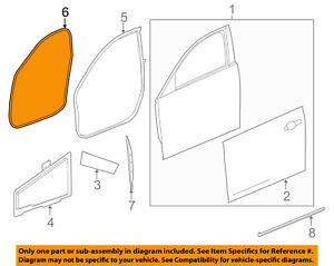 Cadillac GM OEM 14-18 CTS FRONT DOOR-Weather Strip On Body 84056853