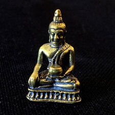 Thai Amulet Buddha with Alms bowl Brass Statue Figurine Lucky Happy DBC