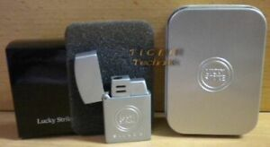 Original Lucky Strike Mini Feuerzeug Silber Metall NEU OVP* so901